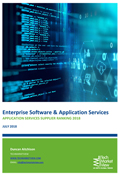 Application Services Supplier Ranking Report 2018