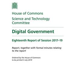 Science & Tech Committee Digital Governement Report Cover