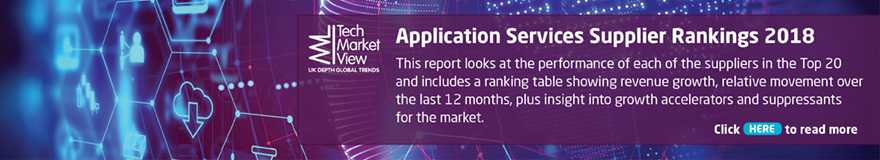 Application Services Supplier Rankings Report 2018
